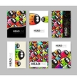 Set of six brochures vector image