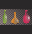 set of transparent decorative vases of different vector image vector image