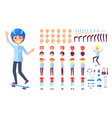 skater constructor collection vector image vector image