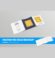 standard square booklet template with realistic vector image vector image