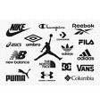 top clothing brands logos set most popular vector image vector image