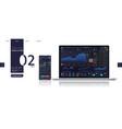 trading platform dashboard ui ux kit mockup vector image vector image