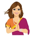Traditional Indian woman vector image