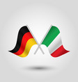 two crossed german and italian flags vector image vector image