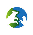 veterinary clinic logo silhouette dog and vector image vector image