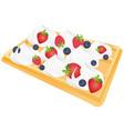 waffle vector image
