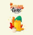 welcome autumn fall season poster vector image