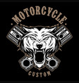 wolves motorcycle vector image
