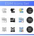 workshop icons set vector image vector image