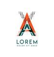 xa modern logo design with orange and green color vector image vector image