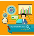 Performance Analysis Banner Search for Solutions vector image