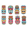 hawaiian mask of tiki god wooden african vector image
