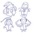 Cute happy children vector image