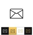 Envelope business letter or email line vector image