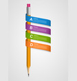 Creative infographics template with pencil and vector image