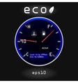 Dashboard temp fuel vector image