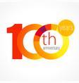 100 anniversary chart logo vector image