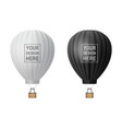 3d realistic hot air balloon icon set vector image vector image
