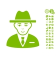 Agent Icon With Free Bonus vector image vector image