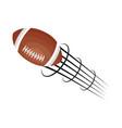 american football balloon icon vector image vector image