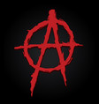 anarchy symbol letter a vector image