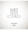Autumn gumboots icon vector image