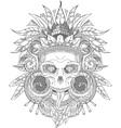 Aztec indian Skull vector image