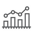 bar chart analytics line icon business and vector image vector image