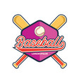 baseball logo with text space for your slogan vector image