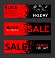 black friday banner set vector image vector image