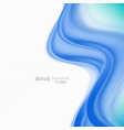 blue abstract wave background blue wave flow vector image vector image