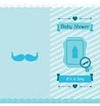 boy bashower invitation card vector image