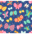 Cartoon butterflies pattern vector image vector image