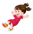 cartoon happy kids pose flying vector image vector image