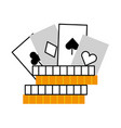casino chips with poker cards vector image vector image