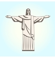 Christ the Redeemer Statue in Flat Style