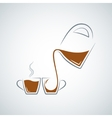 coffee cup glass pot background vector image vector image