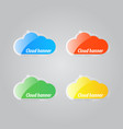 colorful bright clouds icons on a gray background vector image