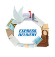 correspondence letters mail post express delivery vector image vector image