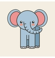 cute elephant tender isolated icon vector image