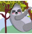 cute sloth wildlife animal vector image vector image