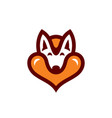 dog love sign vector image