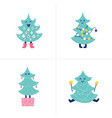 doodles christmas tree vector image vector image