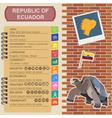Ecuador infographics statistical data sights vector image vector image