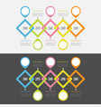 five step timeline infographic set placemerk vector image vector image