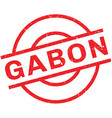 Gabon rubber stamp vector image vector image