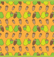geometric seamless pattern in ecological style vector image