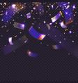 glow neon confetti on transparent background 3d vector image