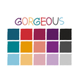 Gorgeous Color Tone without Code vector image vector image