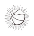gray scale silhouette with basketball ball vector image vector image